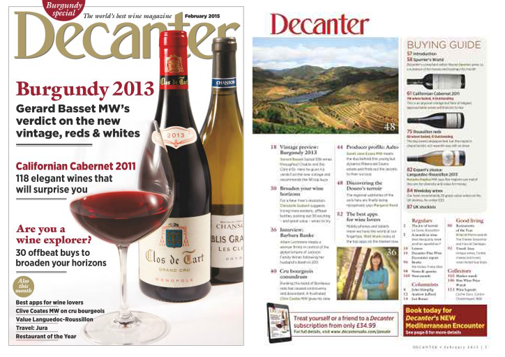 Notation dans le magazine Decanter
