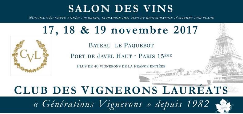 Salon PARIS XV «Le PAQUEBOT» 17, 18 et 19 novembre 2017