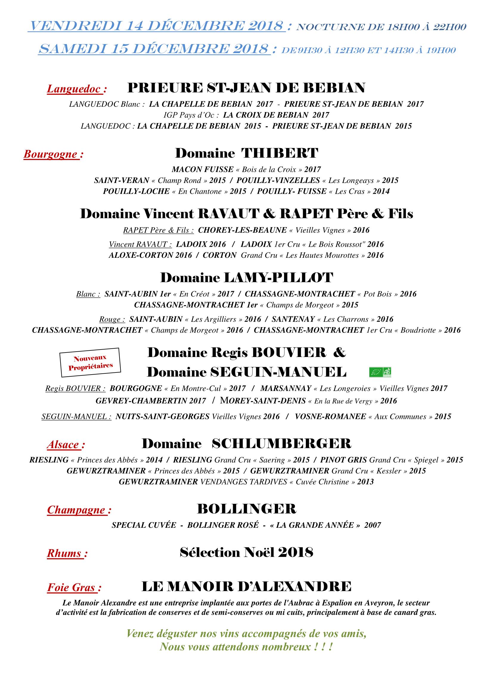 CLERMONT-FERRAND LE 14 ET 15 DECEMBRE 2018