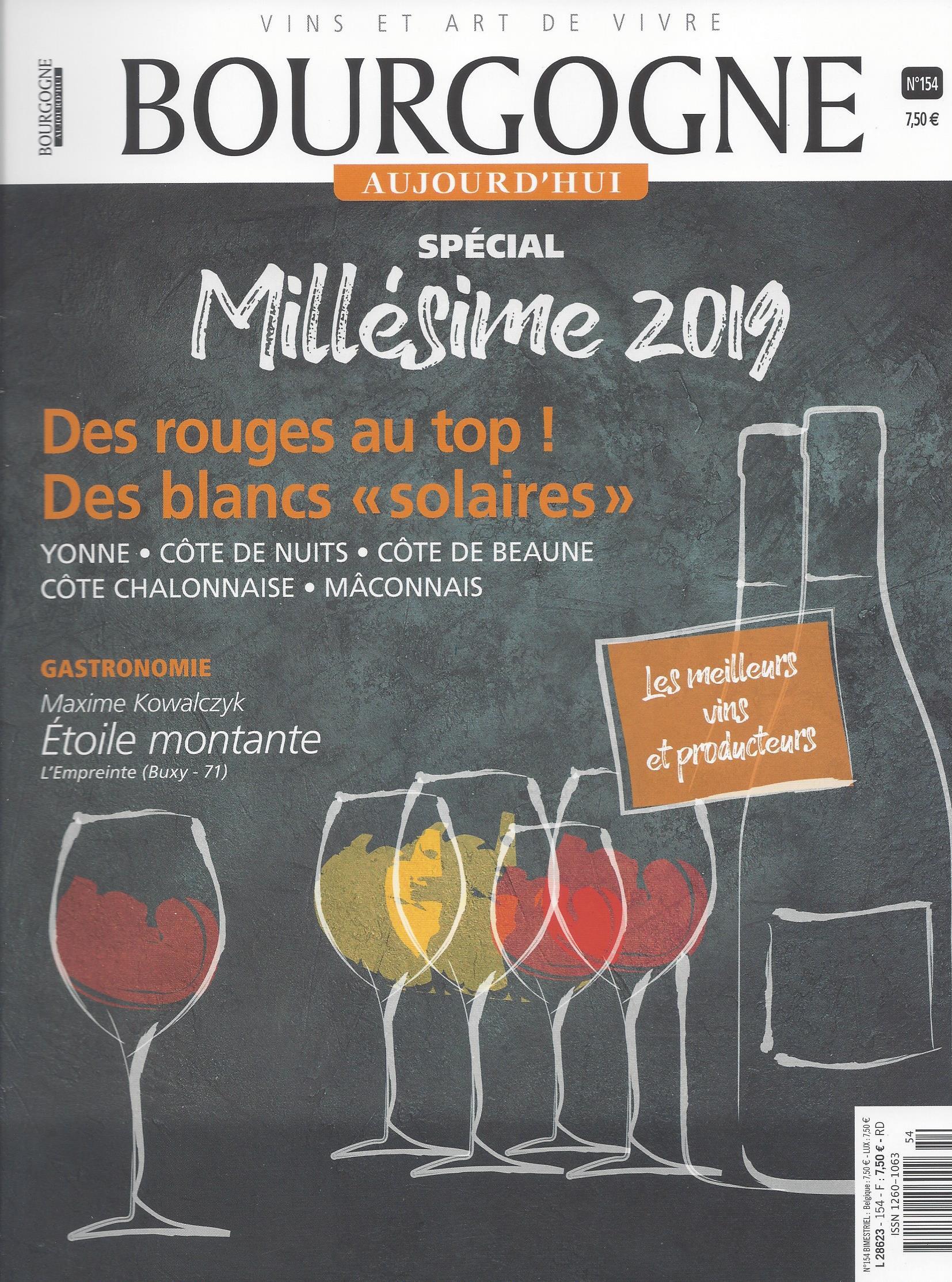 Bourgogne Aujourd'hui  Aout-septembre 2020